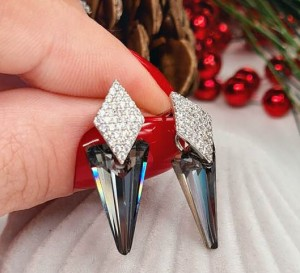 Cерьги с кристаллами Swarovski E-873 цена