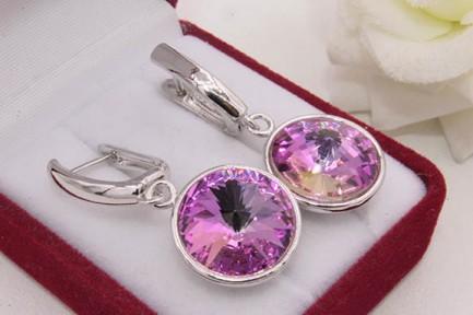 Cерьги с цветными кристаллами Сваровски E-878 цена
