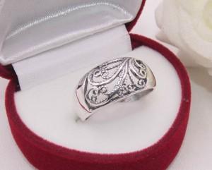 Кольцо ажурное посеребренное R-0089 ювелирный сплав