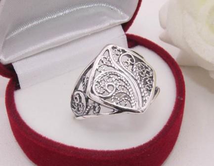 Кольцо посеребренное R-0096 ювелирный сплав
