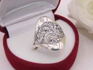 Кольцо ажурное с серебряным покрытием R-0097 бижутерия