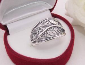 Кольцо ажурное посеребренное R-0103 стоимость
