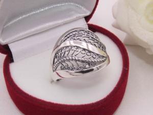 Кольцо ажурное посеребренное R-0105 купить