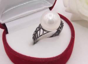 Кольцо с жемчугом R-0115 цена
