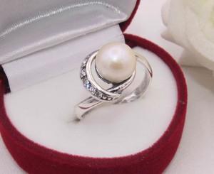 Кольцо с жемчугом и фианитами R-0119 стоимость