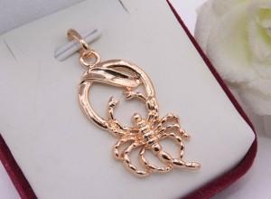Знак Зодиака Скорпион позолоченный кулон