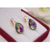 Cерьги с разноцветными кристаллами Сваровски E-1118 цена
