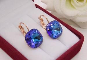 Cерьги с цветными кристаллами Сваровски E-1123 цена