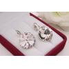 Cерьги с кристаллами Сваровски E-1134 цена