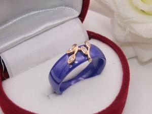 Кольцо керамическое с фианитовыми вставками R-0142 стоимость