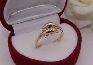 Кольцо позолоченное R-0148 бижутерия