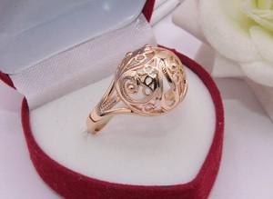 Кольцо ажурное с позолотой R-0153 цена