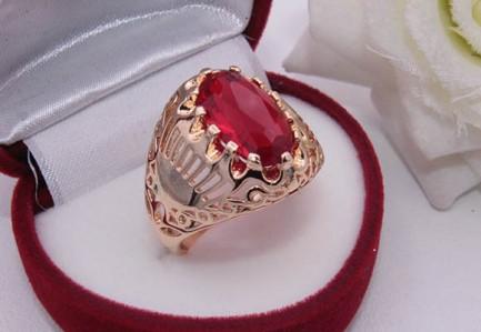 Кольцо позолоченное с фианитом RIF-0098 цена