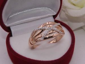Кольцо с золотым покрытием RIF-0197 купить