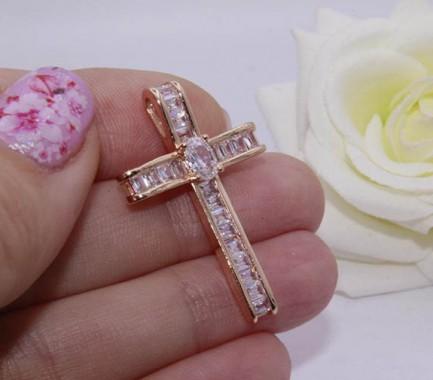 Крест фианитовый позолоченный цена