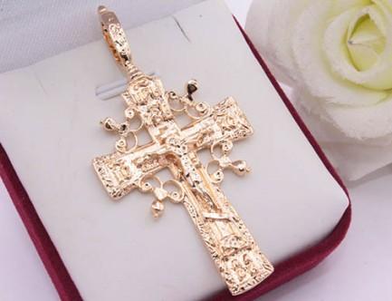 Крест позолоченный медицинское золото
