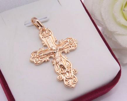 Крест религиозный с золотым покрытием