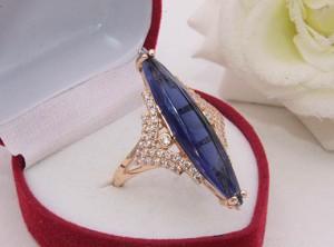 Кольцо фианитовое с золотым покрытием R-0261 купить