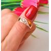 Кольцо позолоченное с фианитами RIF-0202 стоимость