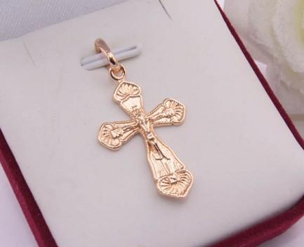 Крест религиозный с позолотой
