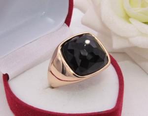 Кольцо мужское позолоченное R-0296 недорого