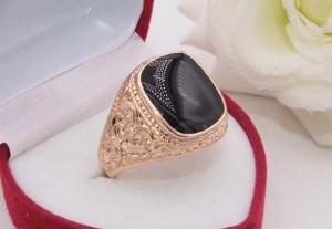 Кольцо позолоченное с фианитовой вставкой R-0298 недорого