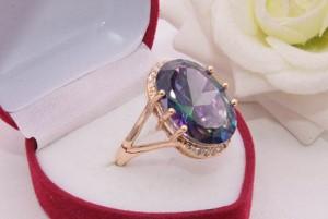 Кольцо позолоченное фианитовое R-0301 стоимость