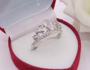 Кольцо ажурное родированное с фианитами R-0304 недорого