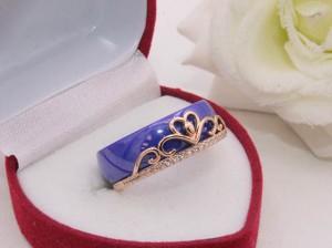 Кольцо с цветной керамикой и фианитами R-0353 недорого