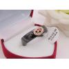 Кольцо c черной керамикой и фианитами R-0377 цена