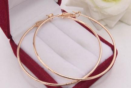 Cерьги-конго позолоченные кольца