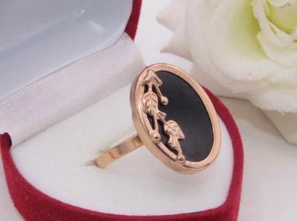 Кольцо позолоченное R-0394 купить