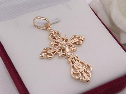 Кулон-крест с позолотой Krest-0052 бижутерия