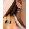 Комплект позолоченной бижутерии с голубыми фианитами SSF-0174